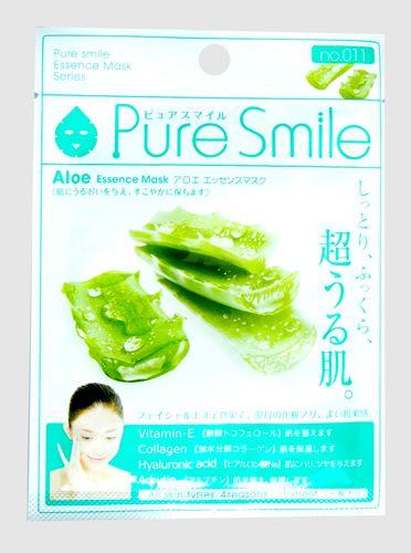 "000204 ""Pure Smile"" ""Essence mask"" Увлажняющая маска для лица с экстрактом алоэ 23мл 1/600"