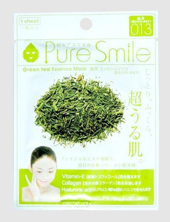 """000228 """"Pure Smile"""" """"Essence mask"""" Антиоксидантная маска для лица с эссенцией зелёного чая 23мл"""