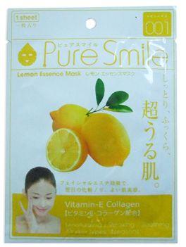 "000280 ""Pure Smile"" ""Essence mask"" Осветляющая маска для лица с эссенцией лимона 23мл 1/600"