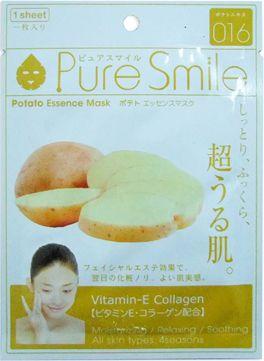 "000327 ""Pure Smile"" ""Essence mask"" Тонизирующая маска для лица с эссенцией картофеля 23мл 1/600"