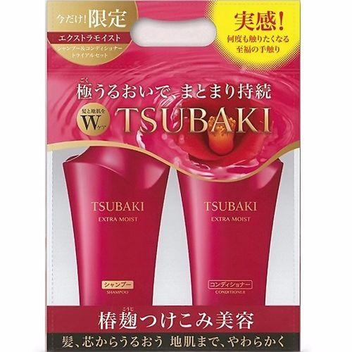 """449217 """"SHISEIDO"""" """"TSUBAKI Extra Moist"""" Набор увлажняющий Шампунь 500 мл+Кондиц. 500 мл д/волос 1/6"""