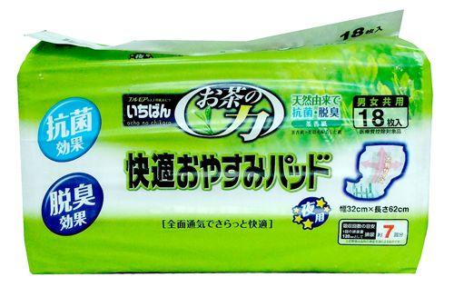 """711174 """"Ichiban"""" Вкладыш в подгузники и трусики с экстрактом зелёного чая 18шт 32смх62см 1/6"""